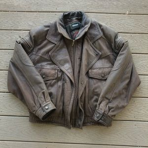 Vintage 80s leather jacket